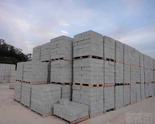 Bloco de cimento estrutural